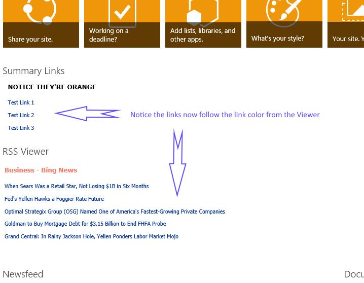 The link colors no longer follow the orange theme