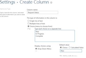 Create Status Column